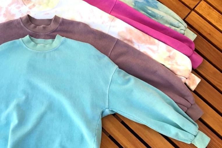Recycled cotton sweatshirts