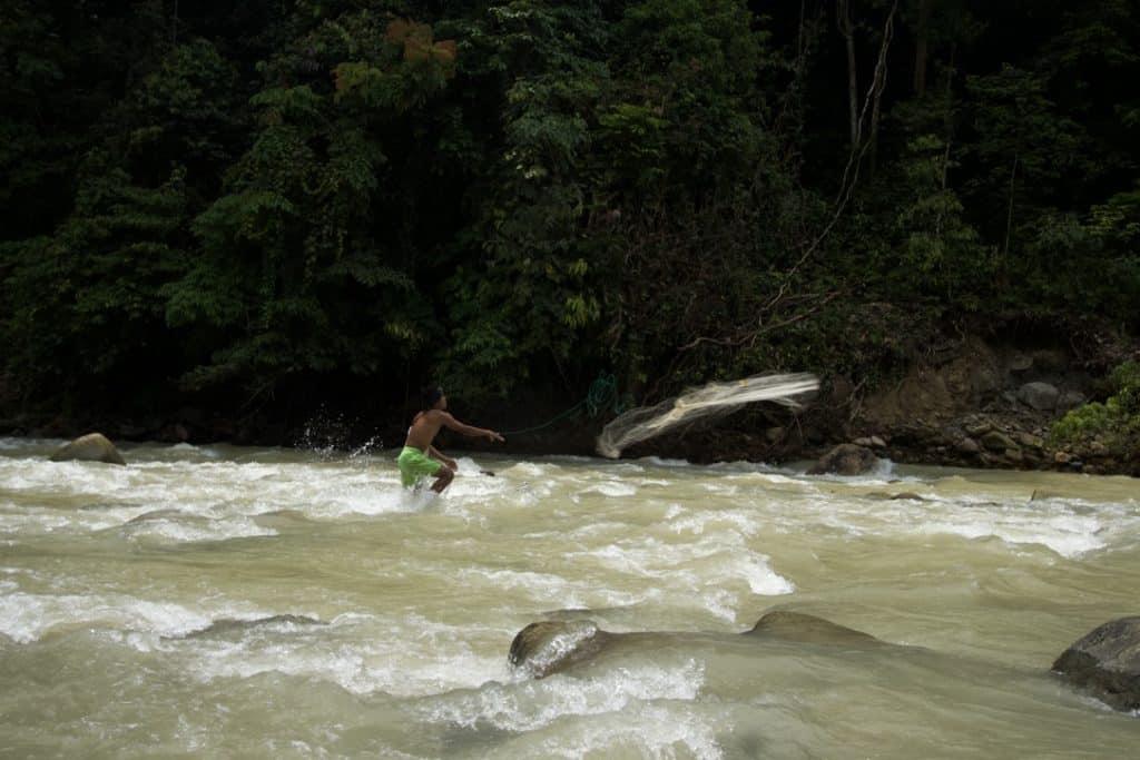 Catching Fresh Fish in Jungle Trekking Tour