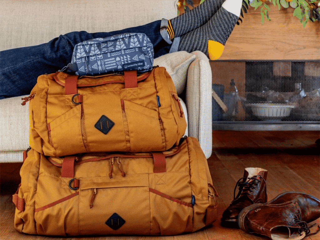 recycled travel luggage