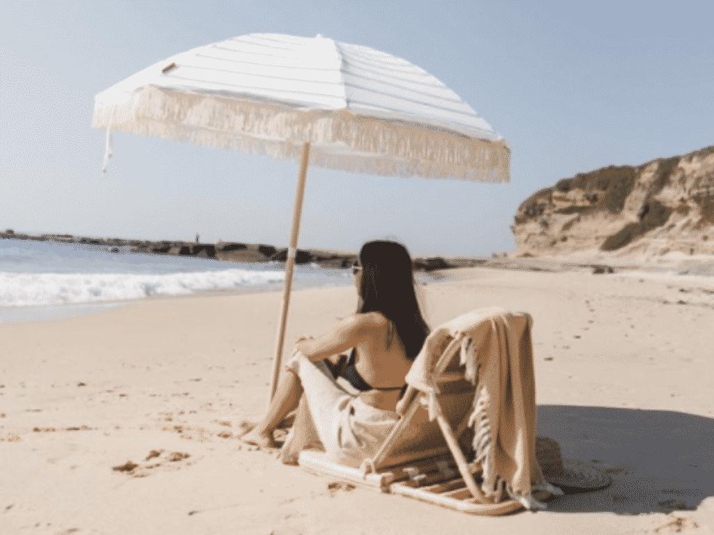 sustainable beach umbrella