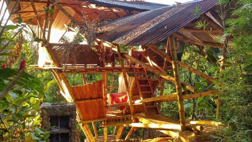 Open Wooden Cabin